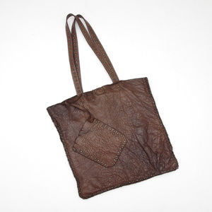 ORIGI Italy Boho Leather Shopper Tote Bag Designer